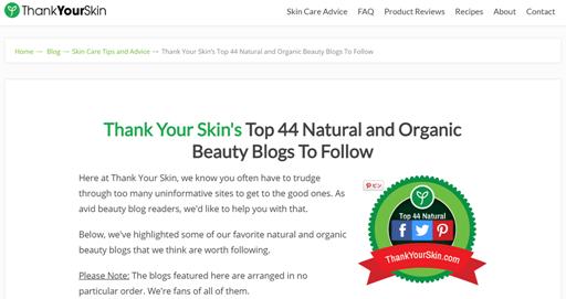 英語圏のオーガニック系美容ブログ・サイトがきれいで面白い!Top44に選ばれたブログ・サイトたち